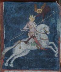 trinity chapel in lublin  north wall choir  the equestrian image of king wladyslaw jagiello